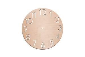 Заготовка, основа для часов - циферблат из фанеры с цифрами