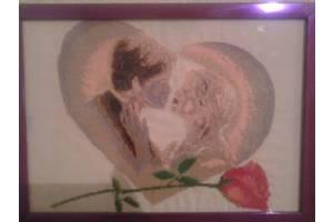 """""""закохана пара"""" картина вишита хрестиком"""
