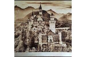 Замок (Пирография) 400 х 400мм