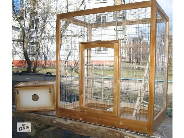 Клетка для больших (ожереловых) попугаев с гнездовым домиком.- объявление о продаже  в Киеве
