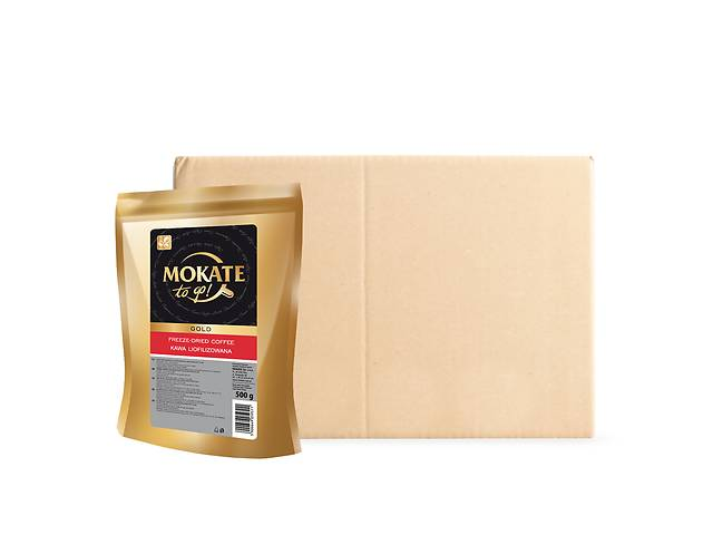 купить бу Кофе растворимый сублимированный Mokate Gold, 0.5кг*10уп в Киеве