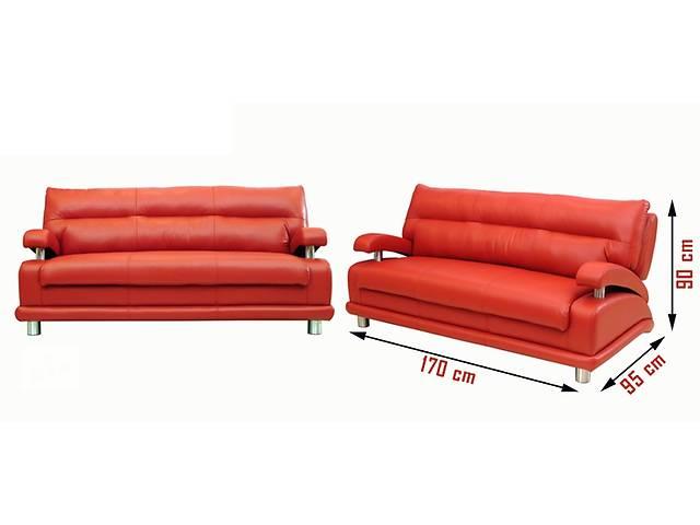 купить бу Комплект кожаной мебели Matrix 3R+1+1, кожаный раскладной диван в Дрогобыче