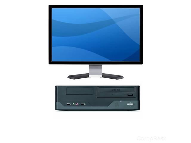 купить бу Суперпредложение!  Современный системный блок Fujitsu Esprimo E3521 в корпусе SSF и широкоформатный плоский монитор 22 в Киеве