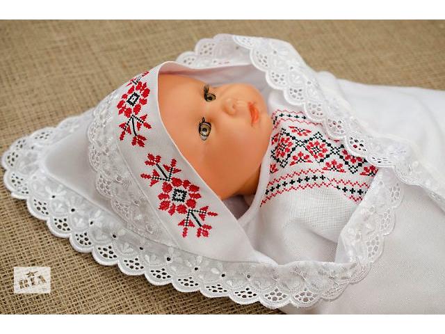 купить бу Конверт для новорожденной. Ручная вышивка в Киеве