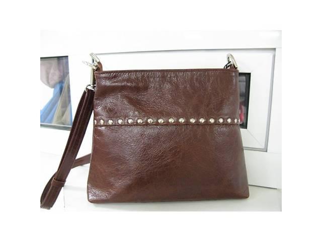 2df72ff198ec купить бу Коричневая сумка - кросс-боди через плечо, натуральная кожа. в  Киеве