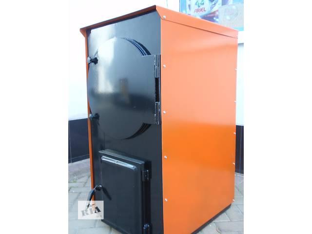 купить бу Котел твердотопливный жаротрубный 25 кВт (с автоматикой) в Маньковке (Черкасской обл.)