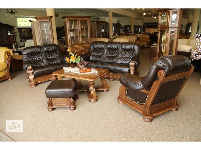 продам Кожаный диваны и кресло Cezar 3+2+1 (Новые). Кожаная мебель с Европы. Комплект. Гарнитур. бу в Луцке