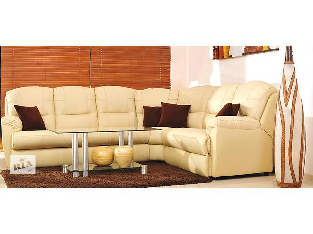 купить бу Кожаный угловой диван релакс Tanja, кожаный уголок реклайнер, релакс,regan.кожаный уголок релакс. в Дрогобыче
