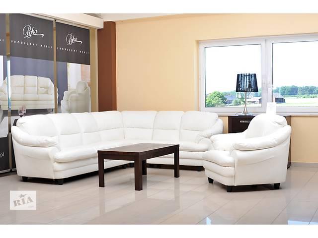 продам Кожаный угловой диван Sara,кожаный уголок диван + 2 кресла, кожаный уголок Sara бу в Дрогобыче