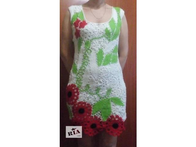 бу Красивое платье ирландским кружевом в Тальном