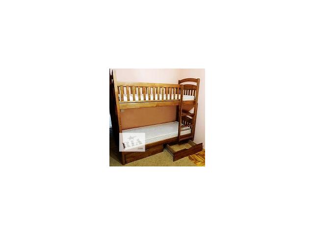 """бу Кровать двухъярусная """"Карина СП"""" (со съемными перегородками), есть на складе, с удобной лестницей (горизонтальные ступен в Одессе"""