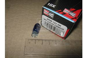 Лампа накаливания W5W Blue 12V 5W W2,1x9,5d (пр-во Champion)