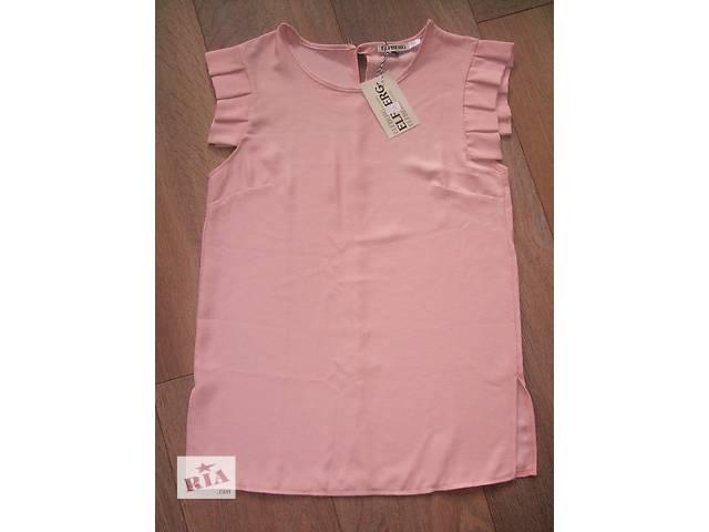 бу Легкая блузка креп шифон нежно розового цвета в Киеве