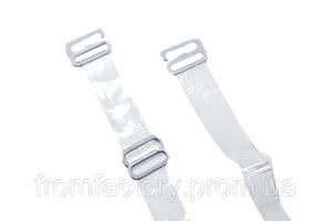Бретельки силиконовые с металлическими регулировками и металлическими крючками