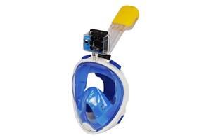 Маска для снорклинга Supretto Easybreath, голубая L/XL (5050)