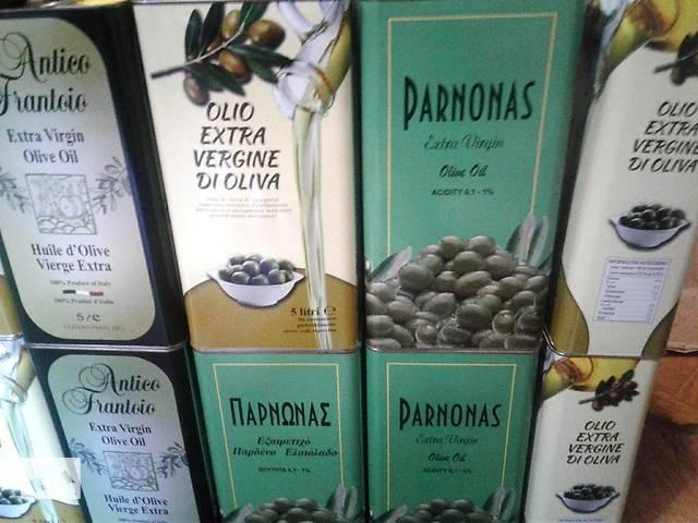 купить бу Масло оливковое Италия, Греция.Испания.5 литров в Киеве
