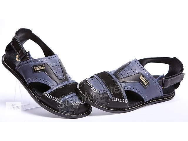 купить бу Босоножки мужские кожаные Kristan ST Blue-Black в Вознесенске