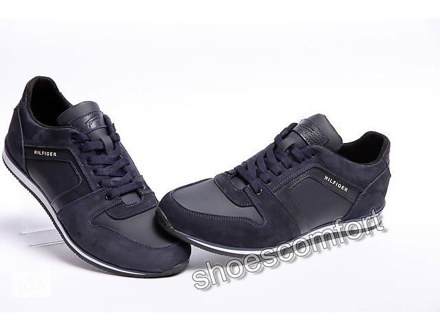 продам Кожаные кроссовки Tommy Hilfiger M - 58 темно-синие бу в Вознесенске 4dc90452053ca