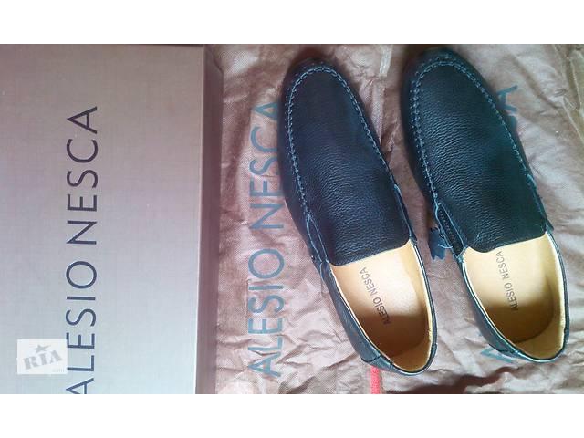 Кожаные мокасины Alesio Nesca  размер 44  чёрный  мягкая натуральная кожа- объявление о продаже  в Каменском (Днепродзержинск)
