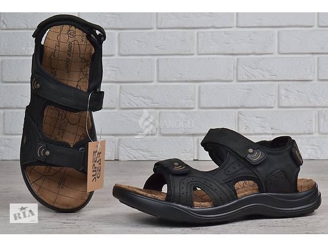 Чоловічі спортивні шкіряні сандалі на липучках Super Gear Угорщина чорні-  объявление о продаже в Харкові f09620e8daacb