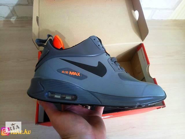 ba090234 Nike air max 90 mid найк аир макс ТОП качество ААА. + Носки в подарок