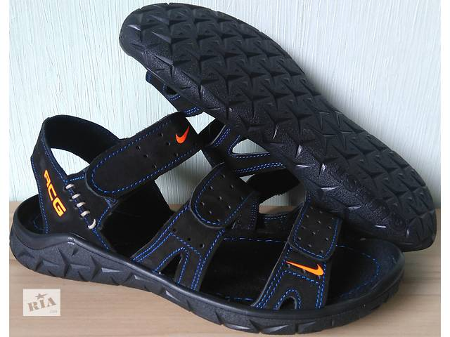 ee58b816a09906 бу Nike шкіряні чоловічі сандалі 3 смужки сандалі босоніжки взуття в Харкові
