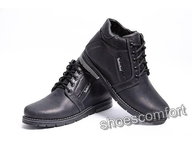 9dd8bedc продам Зимние кожаные ботинки Timberland T - 345 черные шнурок и молния бу  в Вознесенске