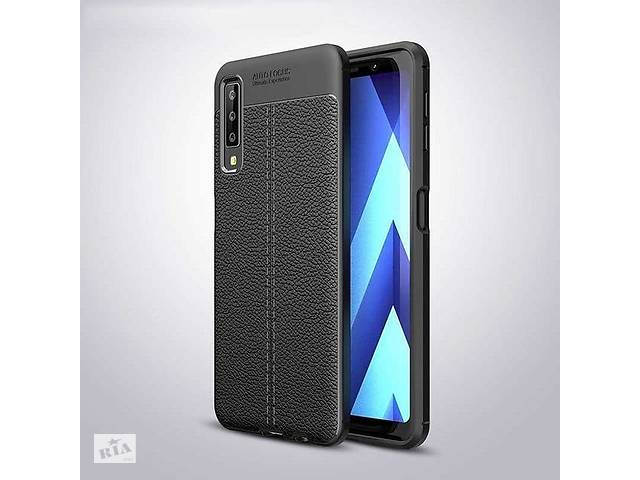 бу Чехол для Samsung A750 / A7 2018 силикон Original Auto Focus Soft Touch черный в Києві