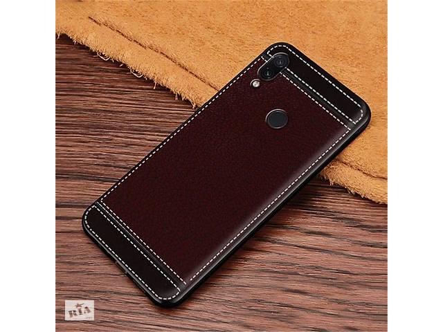 продам Чехол Litchi для Asus Zenfone Max (M2) ZB633KL (4A070EU) силикон бампер с рифленой текстурой темно-коричневый бу в Киеве