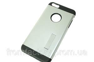 Чехол на IPhone 5/5S/SE (задняя крышка с подставкой) (разные цвета):Серебряный