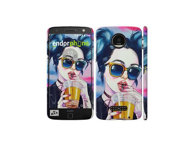 бу Чехол на Motorola MOTO Z Арт-девушка в очках 3994c-419 в Одессе