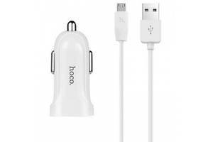 Hoco Z2A c Micro USB (2USB, 2.4А) white (Код товара:10205)