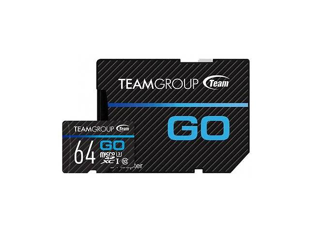 продам Карта памяти TEAM 64GB microSD Class 10 UHS-I/U3 Go (TGUSDX64GU303) бу в Харькове