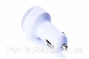 Зарядка автомобильная (1 USB/ 1A) разные цвета:Белый