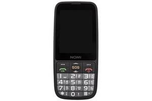 Мобильный телефон Nomi i281+ Dual Sim Black; 2.8 (320x240) TN / клавиатурный моноблок / ОЗУ 64 МБ / 64 МБ встроенной...
