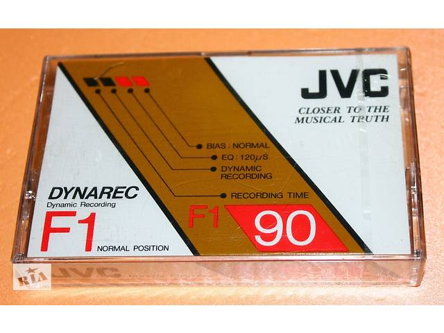 купить бу Аудиокассеты редкие JVC Dynarec F1 90 -запечатаны в Києві