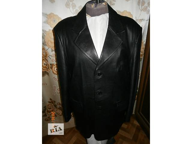 продам Мужской кожаный пиджак XXL(54-56) бу в Киеве