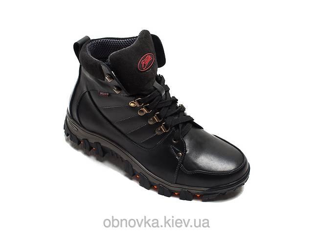 Мужские ботинки зимние натуральная кожа черные хаки- объявление о продаже  в Львове