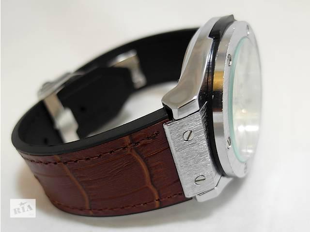 бу Мужские часы HUBLOT - GENEVE (4 цвета) кожаный с каучуком ремешок в Киеве