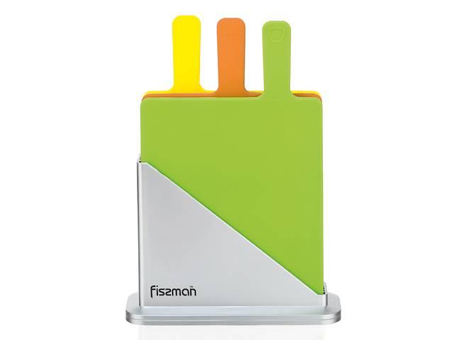 купить бу Набор Fissman 3 доски 32х27х0.7 см + подставка (AY-7351.CB)  в Киеве
