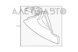 Накладка боковая центральной консоли серая Toyota Camry v40 58817-06010-B1 разборка Алето Авто запчасти Тойота Камри
