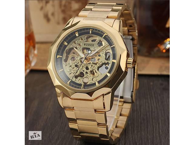 купить бу Механические наручные часы Winner Gold Black Silver в Кривом Роге