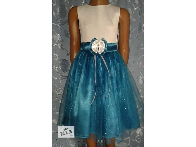 купить бу Нарядное детское атласное платье «Блеск», модель № 25 в Хмельницком