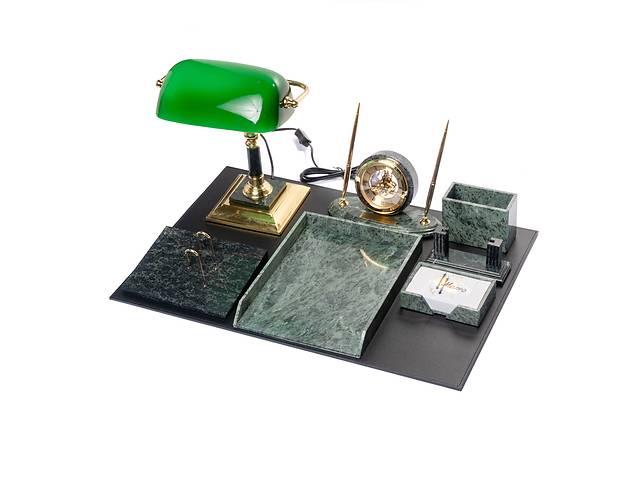 купить бу Настольный набор для руководителя мраморный VIP на 8 предметов BST 540202 в Дубні