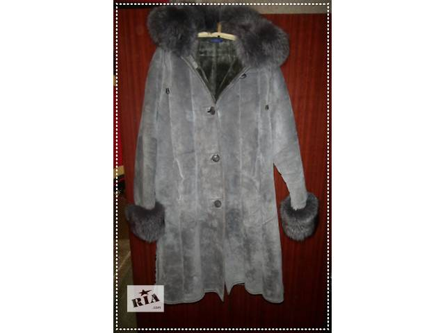 купить бу Натуральная дубленочка серого цвета на овчине в Черновцах