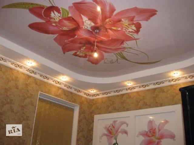 купить бу натяжные потолки Попельня. высокое качество, более 100 оттенков. ФОТОпечать! в Житомире