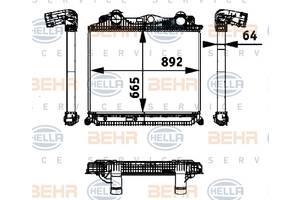 Новый behr радиатор возд. интеркулер man tgatgx  mahle CI 119000P