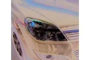 Opel Astra H 2004-2013 гг. Накладка на фары (HB, 2 шт, пласт)