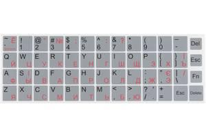 Наклейка на клавиатуру BRAIN silver (STBRNTRSILVER)