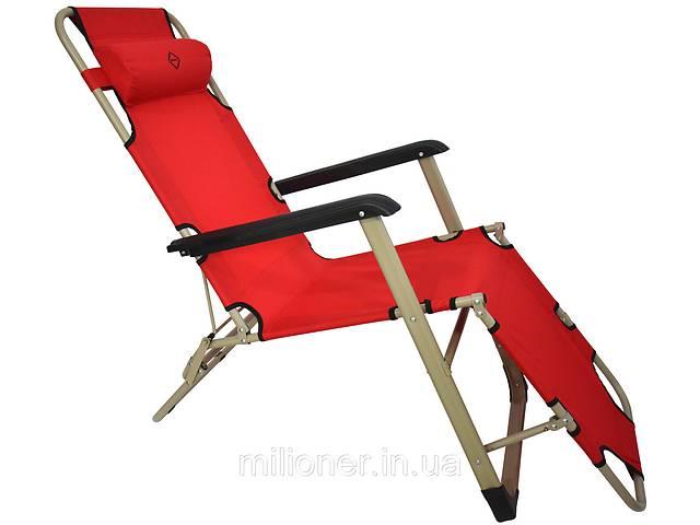 продам Шезлонг лежак Bonro 180 см красный бу в Киеве